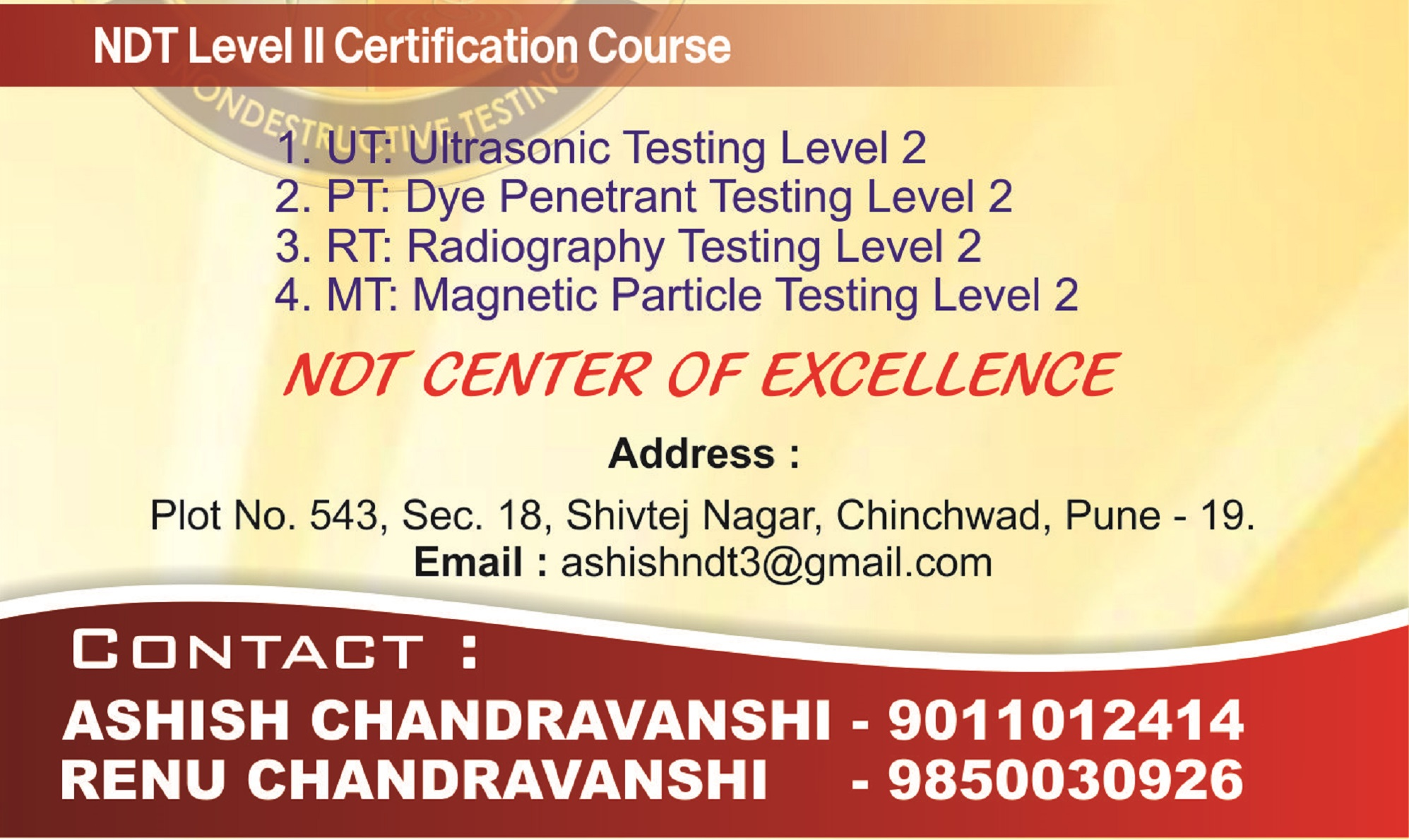 Micro NDT Solution's & Training Institute – NDT Training